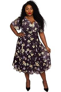 Marilyn Spot Midi Dress Size 10-32  by Scarlett /& Jo