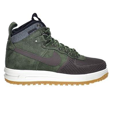 Nike Lunar Force 1 Duckboot Men's Shoes Baroque Brown/Army Olive-Black -Sliver