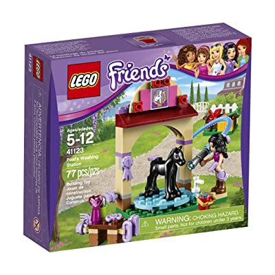 LEGO Friends 41123 Foal's Washing Station Building Kit (77 Piece): Toys & Games