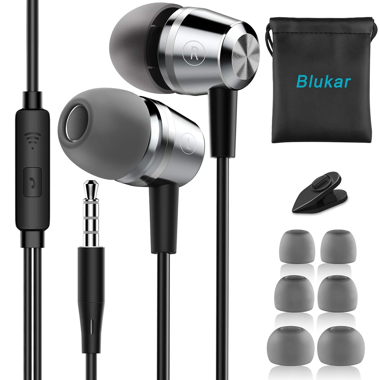 7b488082b13 Auriculares In Ear, Blukar Auriculares con Cable y Micrófono Headphone  Sonido Estéreo para Samsung Galaxy, Huawei, XiaoMi, PC, MP3/MP4 Android y  Todos los ...