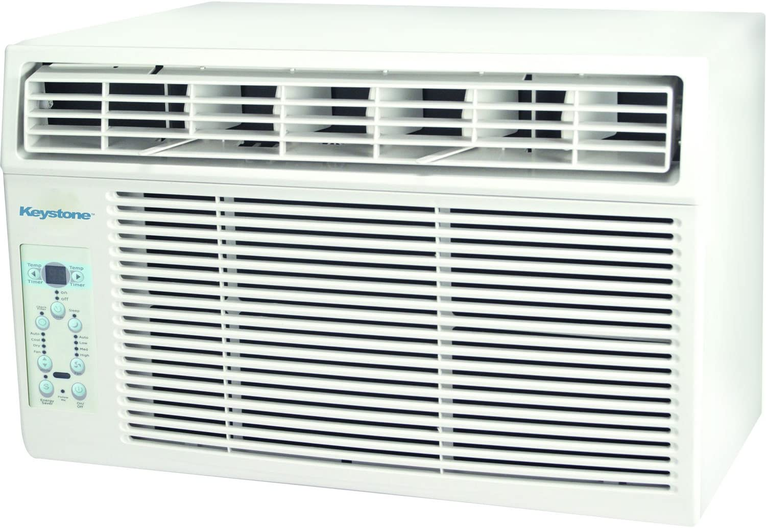 Keystone 10,000 BTU Window-Mounted Air Conditioner with Follow Me LCD Remote Control