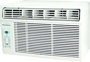 Keystone 10,000 BTU Window-Mounted Air Conditioner with Follow Me LCD Remote Control, White