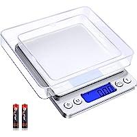 Diyife Balanza Digital de Cocina 500g/0.01g, Escala de Alta Precisión/Báscula de Bolsillo/Básculas de Joyería, Función…