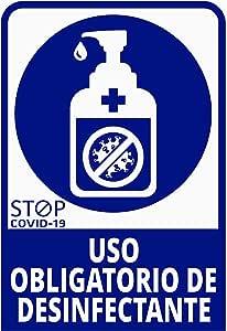 Pegatina Uso obligatorio de desinfectante, Prevención