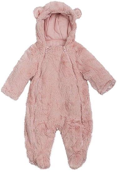 cde55abc6 Amazon.com  Ex Chain-store Newborn Baby Toddlers Faux Fur Snowsuit ...