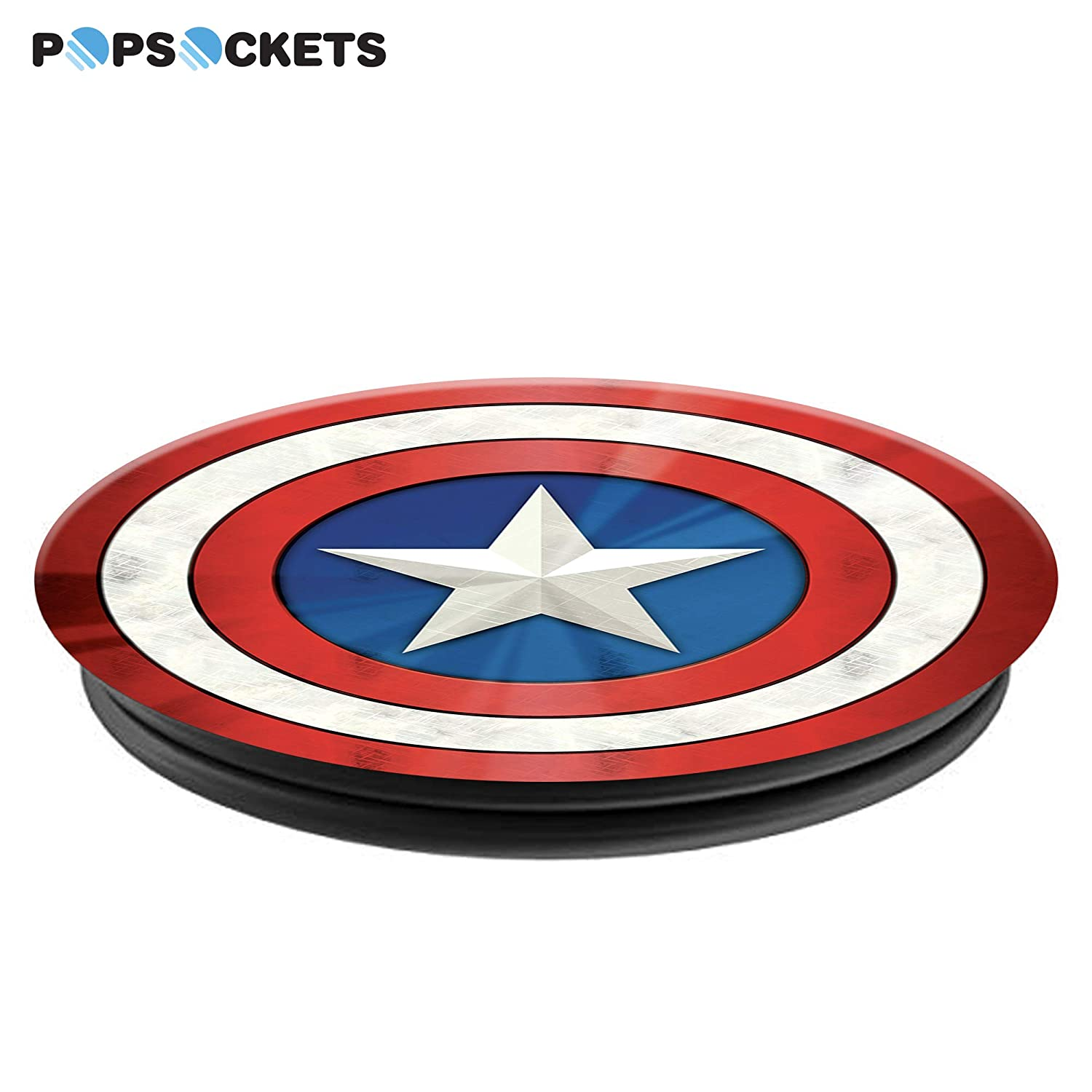 Captain America Shield Icon PopSockets Collapsible Grip /& Stand for Phones and Tablets