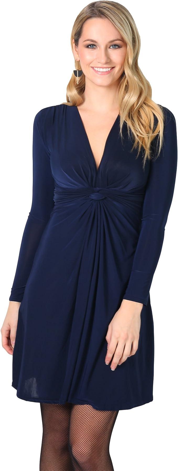 TALLA 48. KRISP Chaqueta Mujer Fiesta Punto Encaje Blazer Elegante Cardigan Azul Marino (9878) 48