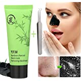 Blackhead Mask Y.F.M 50g Blackhead Remover, Black Mask, Charcoal Face Mask, Face Nose Acne Treatment- Oil Control Peel Off Mask, Bamboo Charcoal Black Mask
