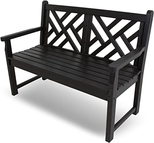 POLYWOOD CDB48BL Chippendale 48″ Bench