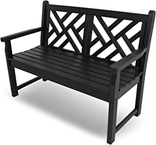 """product image for POLYWOOD CDB48BL Chippendale 48"""" Bench, Black"""