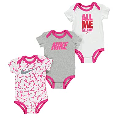 a0f3c0e4a Nike Age 3-6 Months 3 Pack Romper Set Bodysuits Baby Toddler Girls Clothing  Fashion Gift (Age 3-6 Months): Amazon.co.uk: Clothing