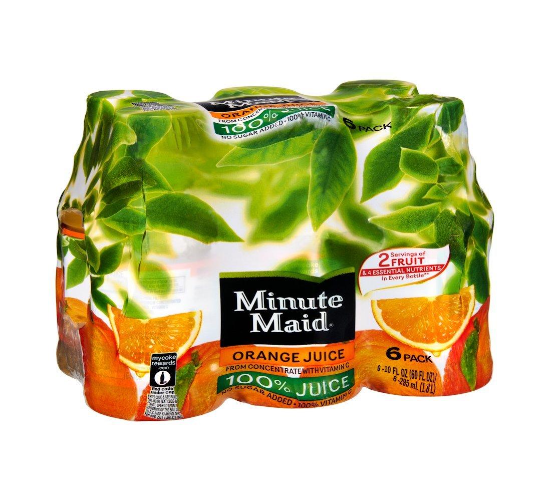 Minute Maid Juices To Go 100% Juice Orange 10 Oz - 4 Pack