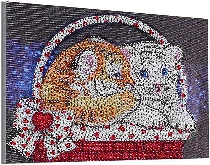 DIY5D Full Drill Diamond Painting Animal Cross Stitch Mosaic Craft Art Decor Kit