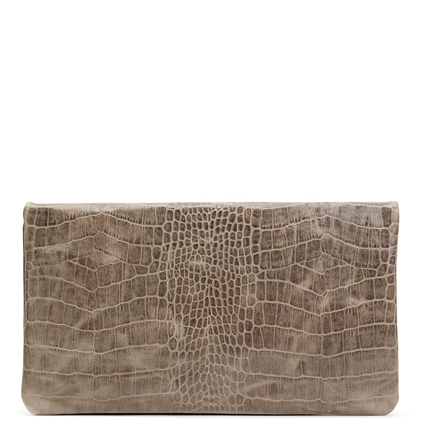 Clare Vivier Women's Foldover Clutch Grey/Black One Size