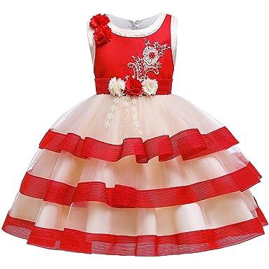 Huicai Niño Vestido Niña Flor Princesa Vestido Flor Muchachas ...
