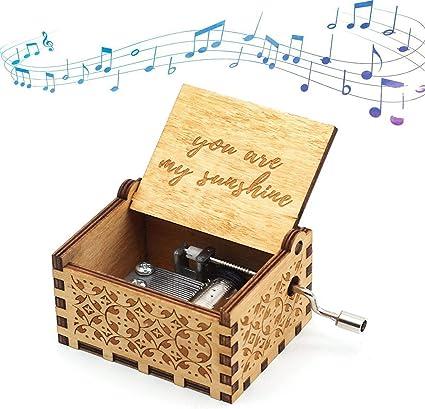Natale Compleanno Carillon in Legno a Manovella Sei Il Mio Carillon in Legno Sunshine per Il Giorno dei Bambini Nobranded Carillon San Valentino e Altri Regali di Festa