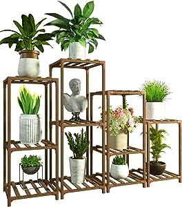 4 Plant Stands Combo Indoor Outdoor Plants Stands for Living Room Balcony Garden