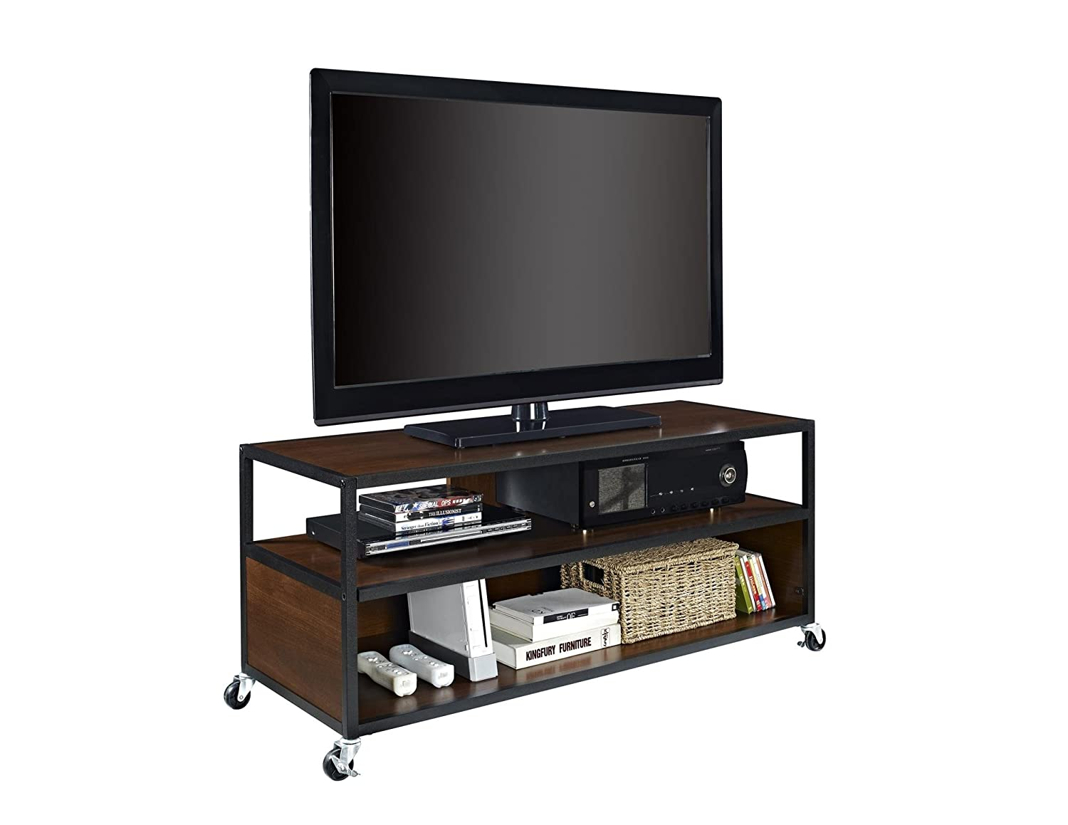 Amazon Com Altra Mason Ridge Mobile 46 Tv Stand With Metal Frame  # Bonjour Muebles