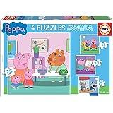 Peppa Pig - Puzzle progresivo, 12, 20 y 25 piezas (Educa Borrás 16817)