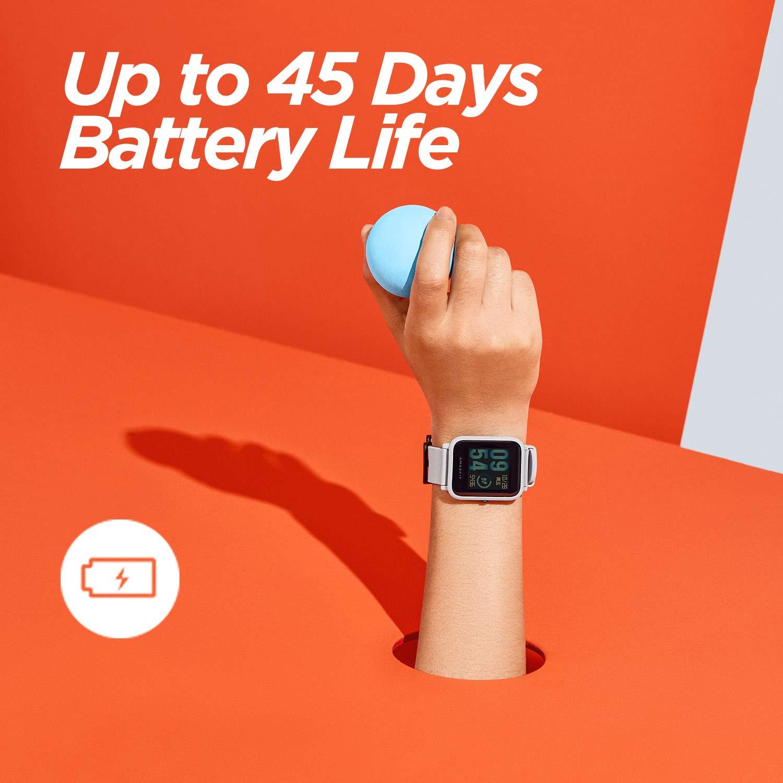 Amazfit Bip Smart Watch, Glonass GPS Monitor de frecuencia cardiaca de reloj deportivo ultra-liviano 1.82