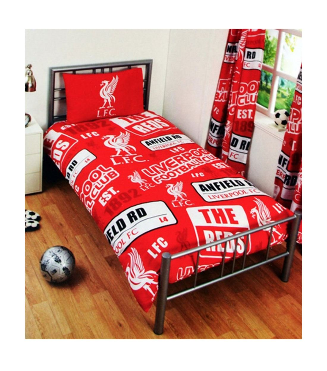Liverpool football club  red cot bed quilt cover and 1 pillowcase brand new