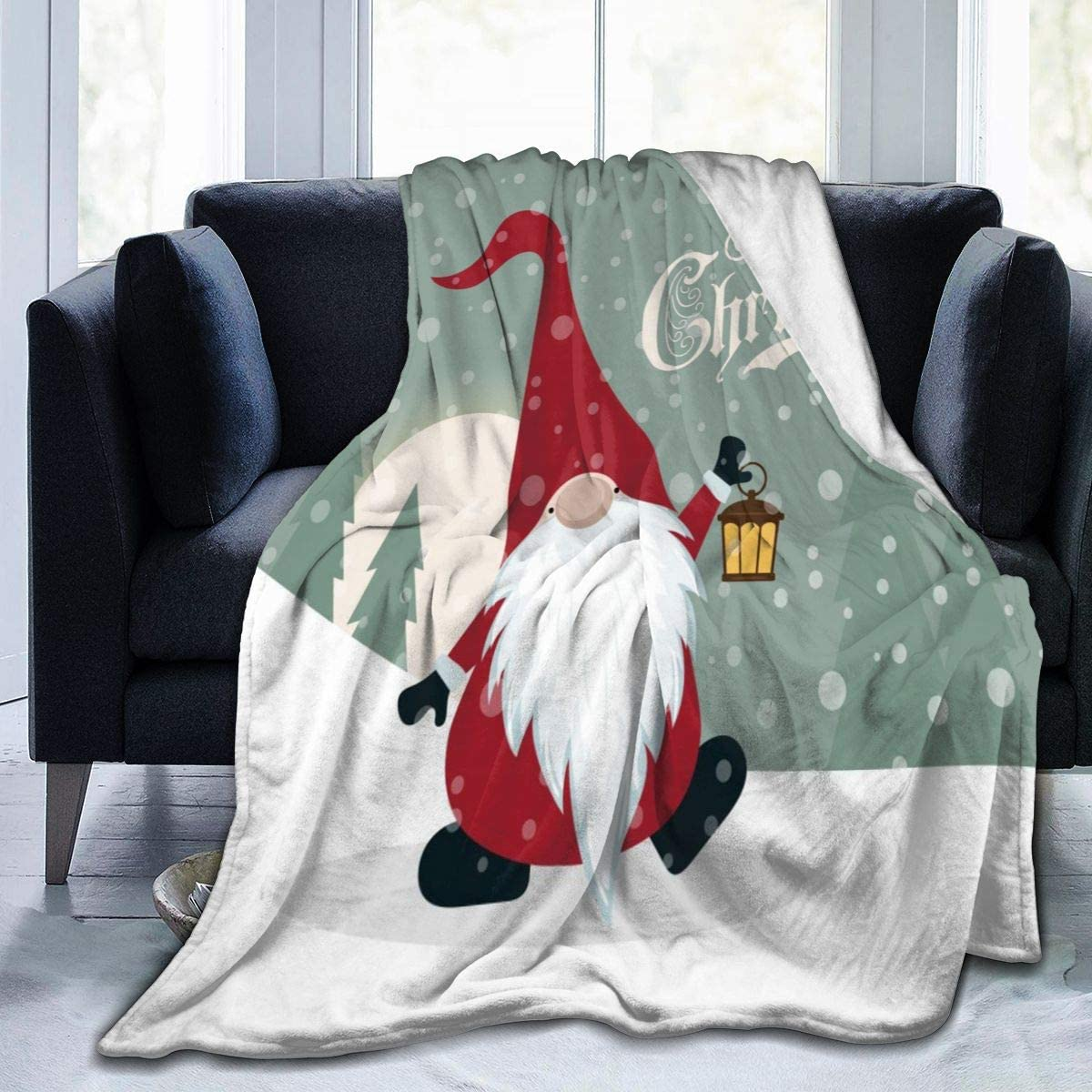 Gift For Christmas Quilt Blanket Let It Snow Gnome Christmas Blanket