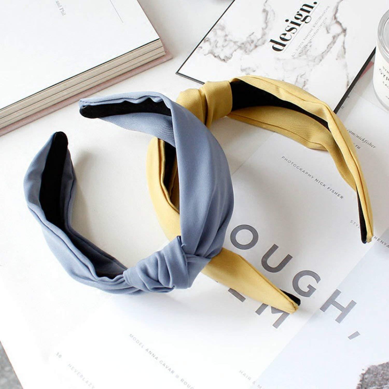 New Summer Hair Headdress Cloth Broadside Pressure Bow Headband Knot Head Hoop