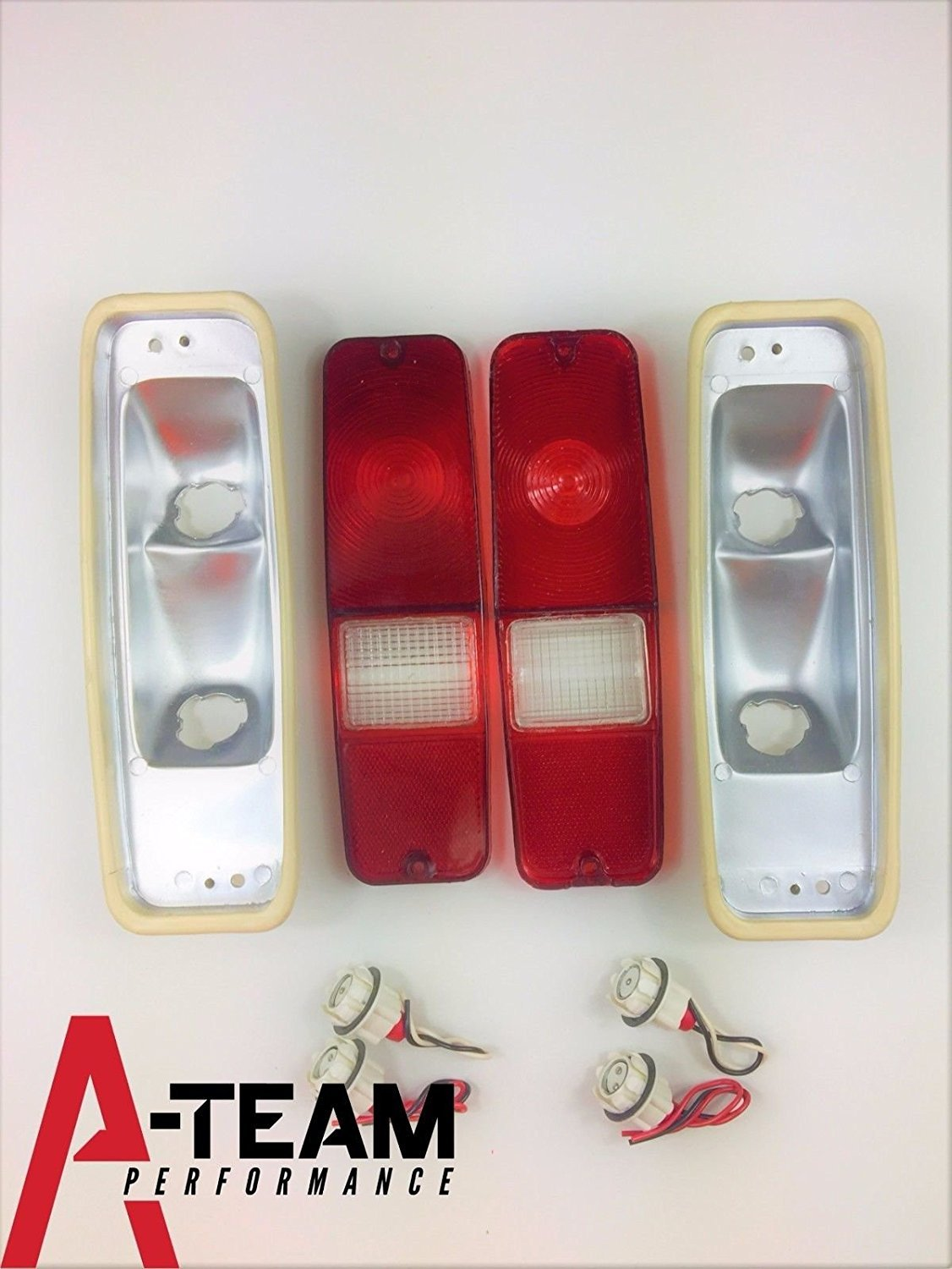 A-Team Performance 70-78 INTERNATIONAL SCOUT II TAIL LIGHT LENS SET BRAKE LENS 69-75 D-SERIES TRUCK SCOUT II W/HOUSING