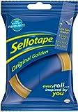 Sellotape Original Tape - 24 mm x 50 m, Golden (Pack of 2)