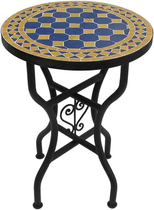 Marokkanischer Mosaiktisch Rund /Ø 40 cm Bordeaux