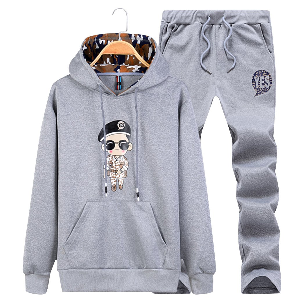 November's Chopin Younger Student Boy Men Pullover Hooded Sweatsuit Fleece Tracksuit