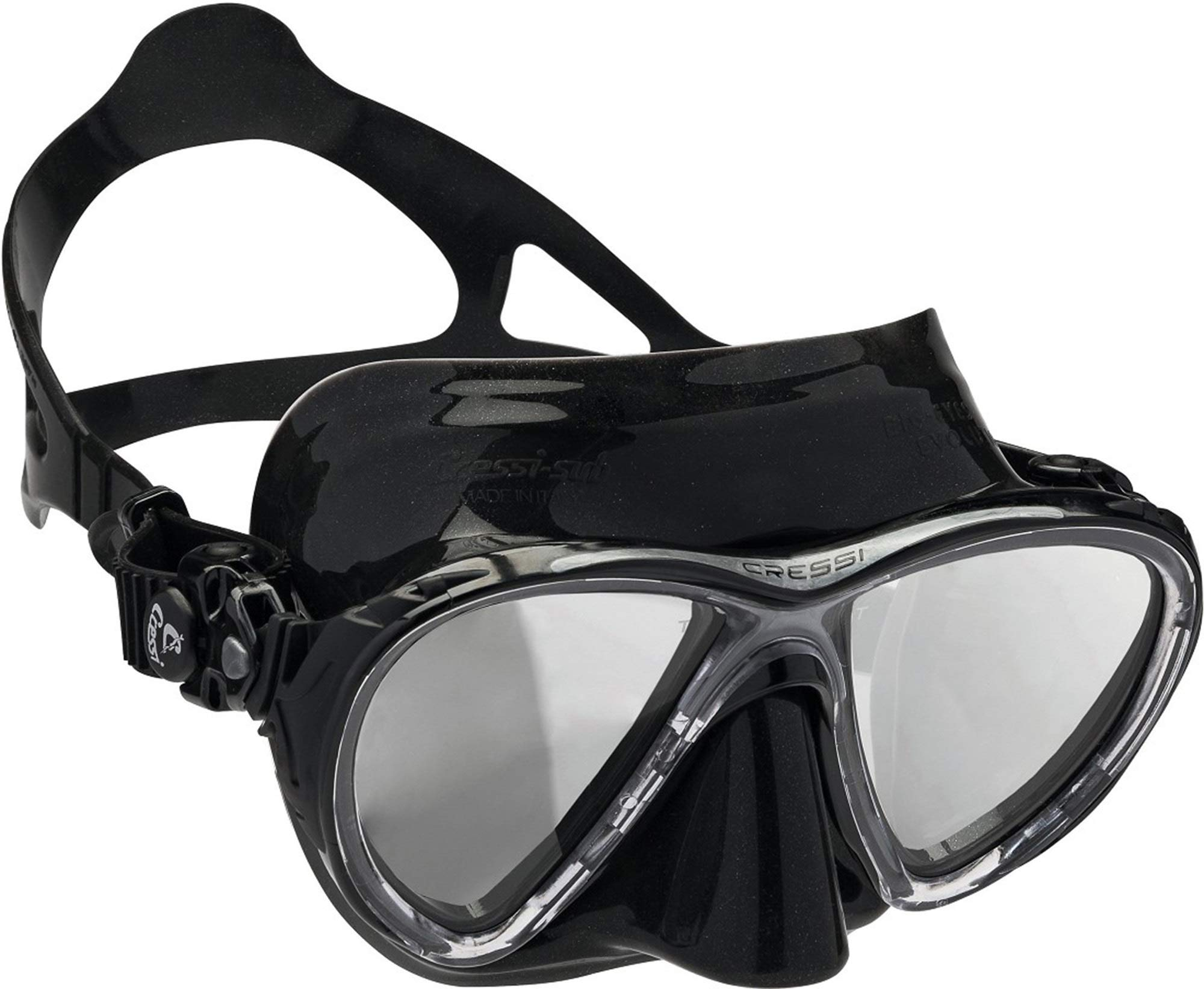 Cressi DS336950 Scuba Diving Big Eyes Evolution Mask Black/HD Mirrored Lenses by Cressi