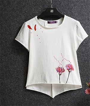 Ruanlei@ Linda Redondo Camisetas/Moda Mujer T-shirt/SeñOras Algodón Tops/