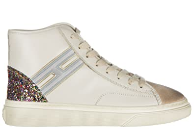 fb7833ee5b3 Hogan Women's Shoes high top Leather Trainers Sneakers h342 White US Size 5  HXW3420J240HSB0LM7