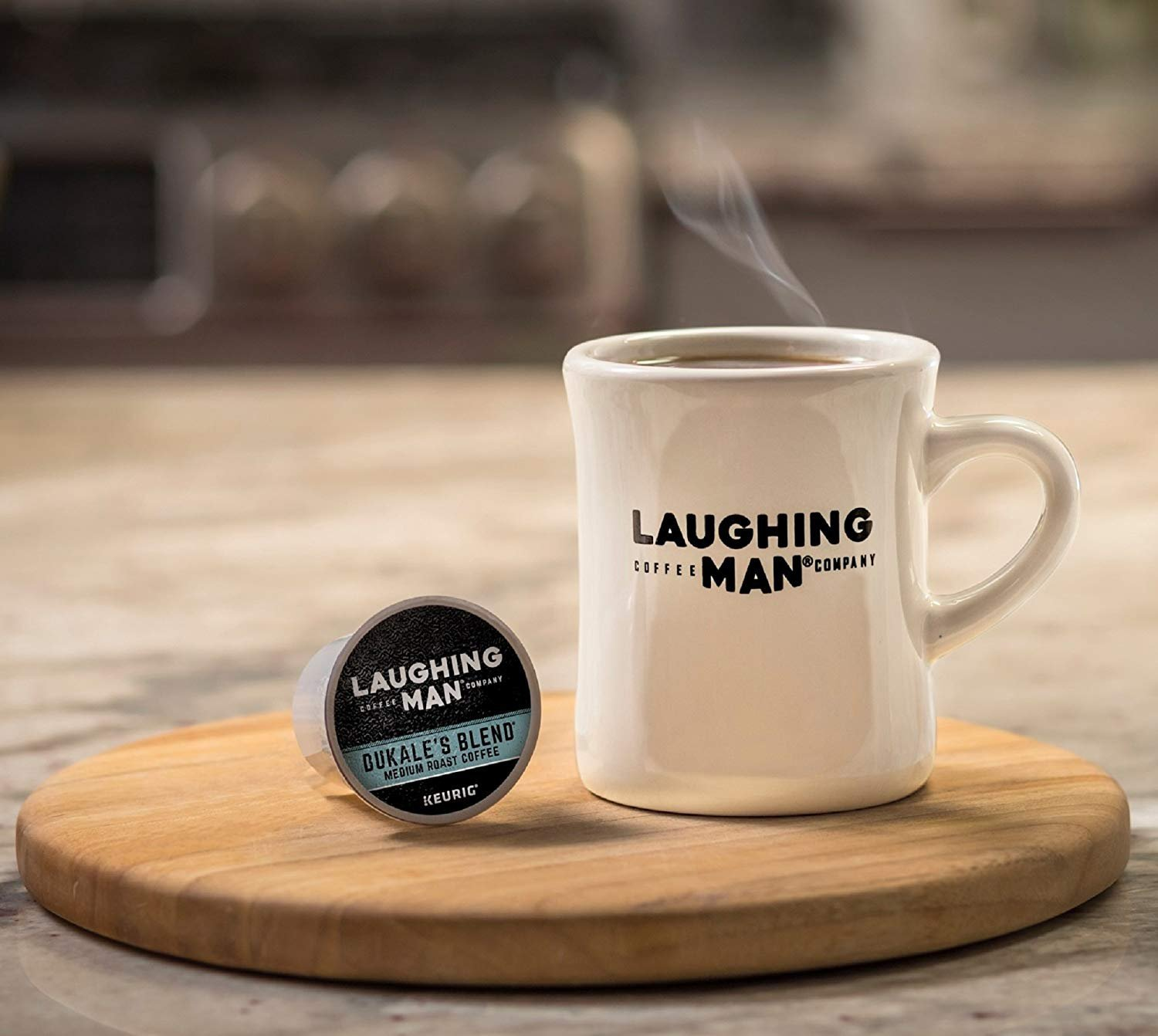 Laughing Man Dukale's Blend Coffee Keurig K-Cups, 96 Count by Laughing Man (Image #6)