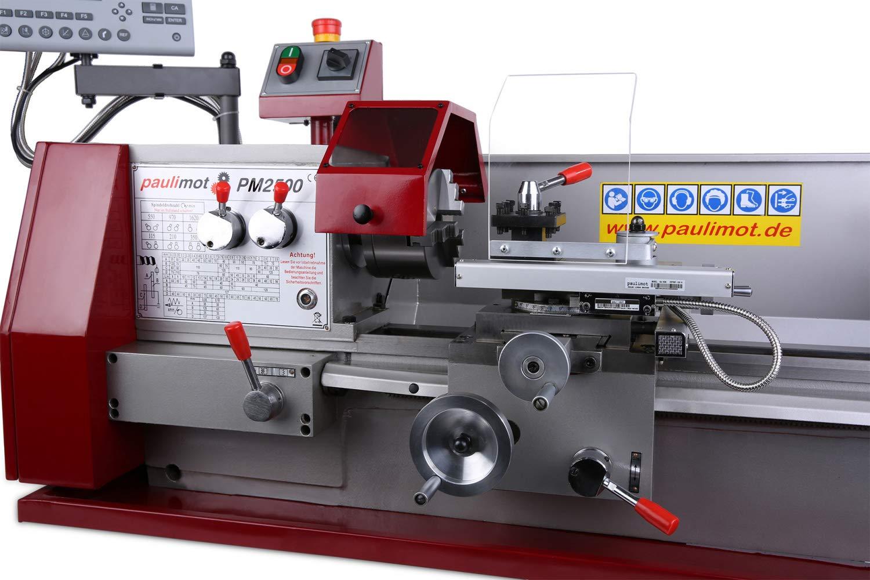 PAULIMOT Drehbank//Drehmaschine PM2500 mit 400 Volt Motor und Messsystem