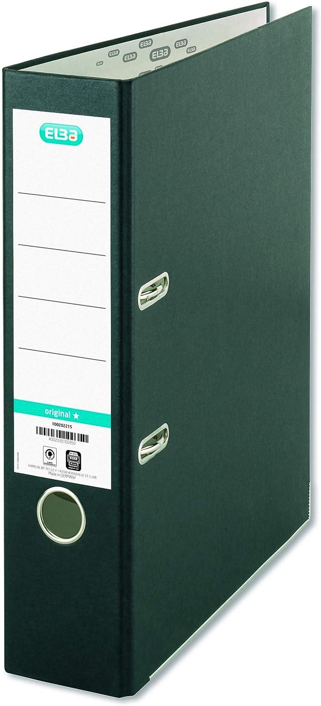 Raccoglitore a leva formato A4 confezione da 6 colore: nero Elba