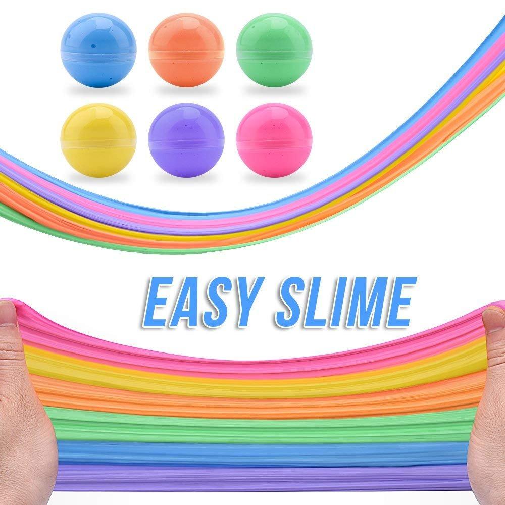 Jouet Anti-Stress parfum/é /à lodeur Super Doux Non Collant Paquet de 6 12 oz Fluffy Floam Slime Putty avec des Perles de Mousse et de la Tranche de Fruits SWZY Fluffy Slime Kit