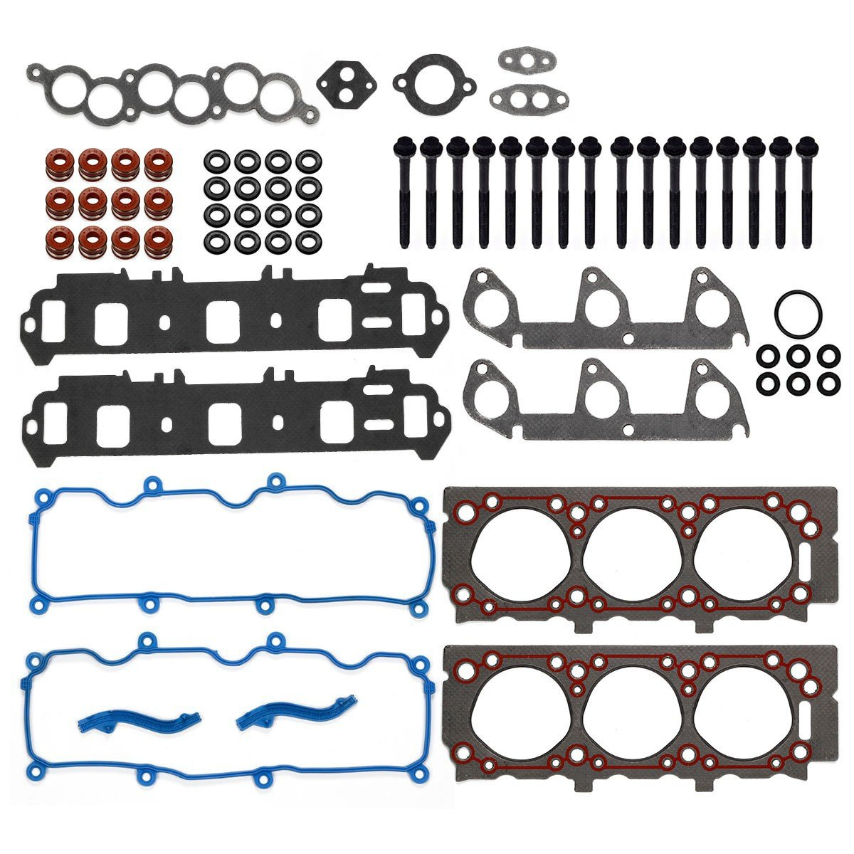 Cylinder Head Gasket With Bolts Kit Fits For 1998 99 1999 Ford Explorer Ohv Engine Diagram 2000 01 Ranger Mazda 30l Automotive