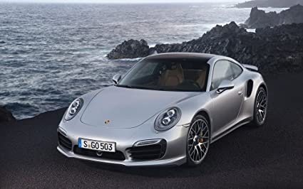 2014 Porsche 911 Turbo S 18X24 Metal Aluminum Wall Art