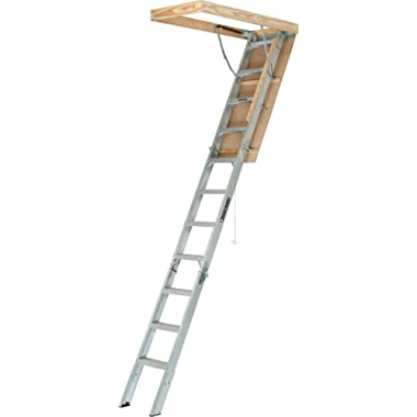 Louisville Ladder AA2210 Elite Aluminum Attic Ladder, 375 Pound Load Capaci, 22-1/2 x 54