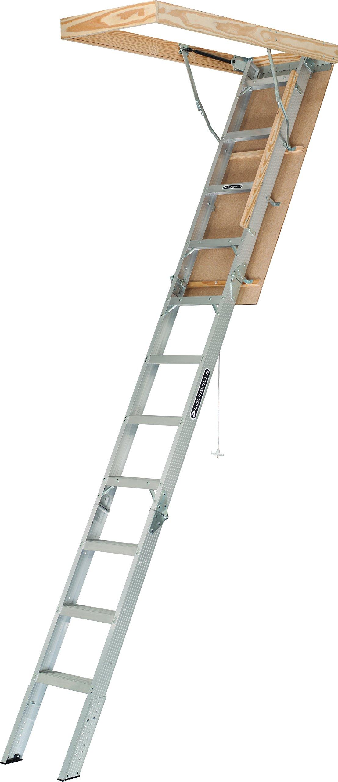 Louisville Ladder AA2210 Elite Aluminum Attic Ladder Type IAA, 22-1/2-Inch x 54-Inch, 375 Pound Load Capacity