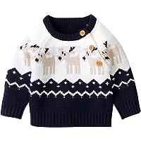 Bebé Suéter de Navidad Jersey Navideño de Recién Nacido Ropa Superior de Punto con Manga Larga para Niños Niñas Pequeños…