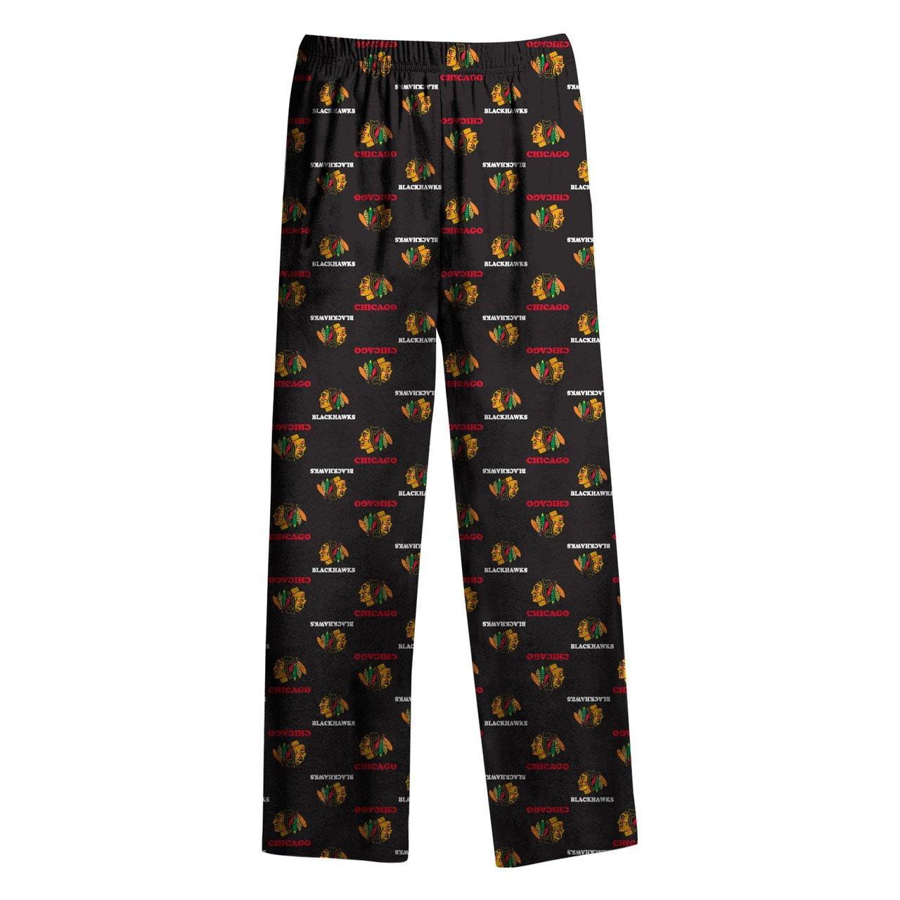 ブラックホークスユースロゴPrint Lounge Pants – ブラック、 XL  B017ZO1E9O
