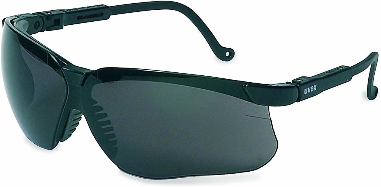 Uvex by Honeywell Genesis Safety Glasses with Uvextreme Anti-Fog Coating, Black Frame