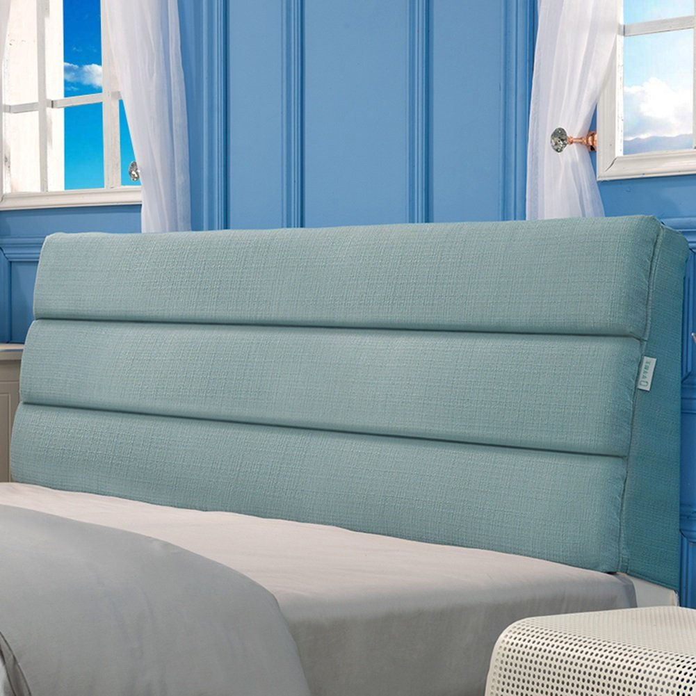 LIQICAI クッション ベッドの背もたれ高品質のコットンリネン 取り外し可能な洗浄が可能 酸逆流を助ける シングル、ダブル、キングサイズ 3色、5サイズオプション (色 : ライトブルー, サイズ さいず : 90*5*50cm) B07DJBMZZV 90*5*50cm|ライトブルー ライトブルー 90*5*50cm