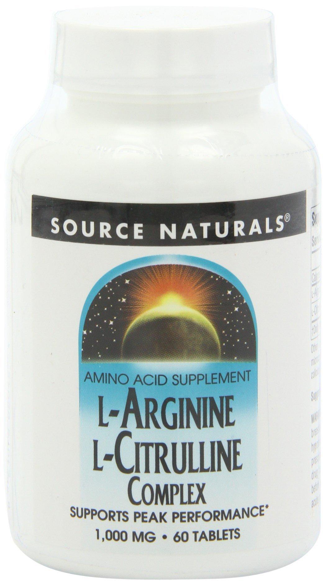 Source Naturals L-Arginine L-Citrulline Amino Acid Complex, Muscle Metabolism - 60 Tablets