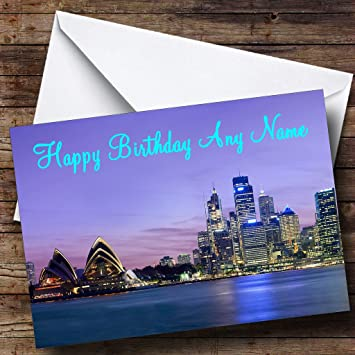 Sydney Australien Personalisierte Geburtstagskarte: Amazon.de ...