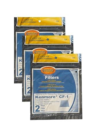 kenmore vacuum filters. envirocare foam filters to fit kenmore sears progressive cf1, \u0026 whispertone, panasonic vacuum