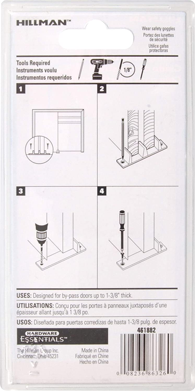 Hillman Hardware Essentials 851220 Sliding Door Guide The Hillman Group